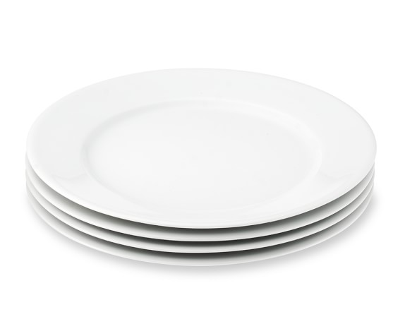 Apilco Très Grande Dinner Plates, White, Set of 4