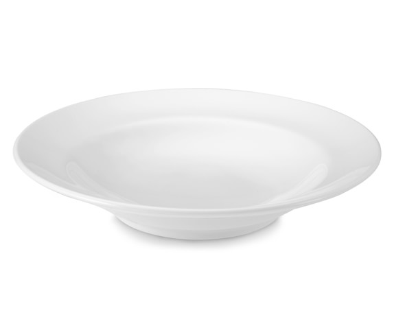 Brasserie All-White Porcelain Soup Bowls, Set of 4