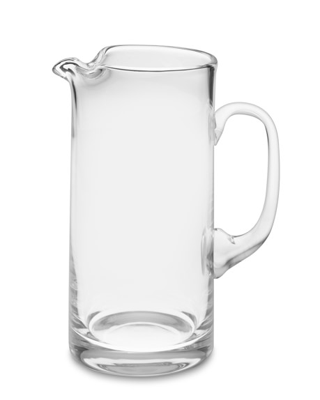 Tall Glass Pitcher