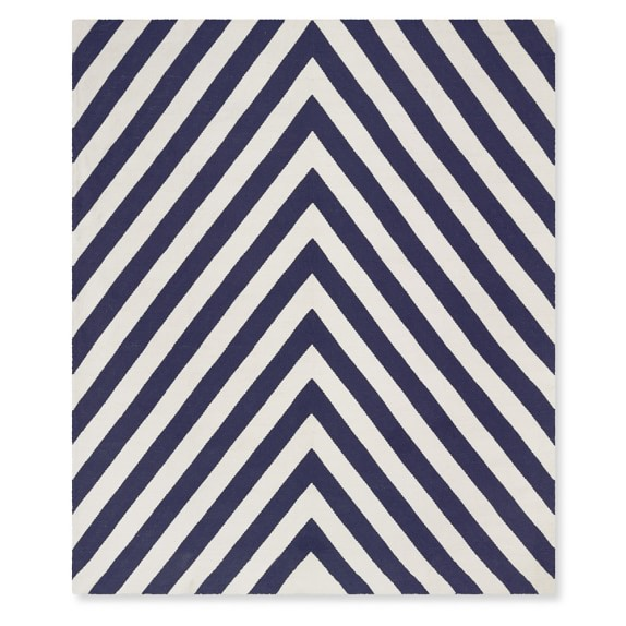 Chevron Indoor Outdoor Rug Navy Williams Sonoma