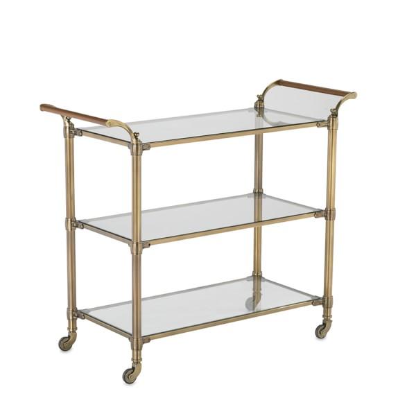 Beckett Bar Cart, Brass
