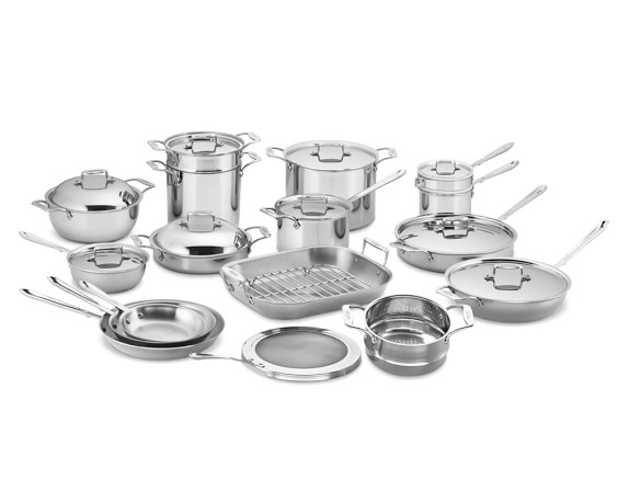 All-Clad d5 Stainless-Steel 27-Piece Cookware Set