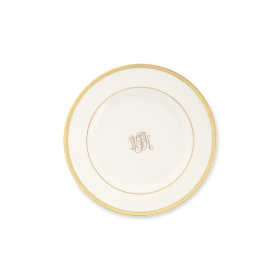 Pickard Signature Monogram Bread and Butter Plate, Gold