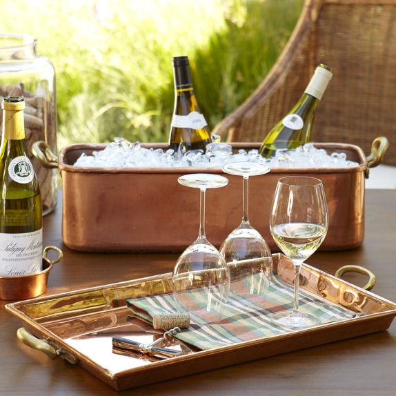 Copper Rectangular Tray