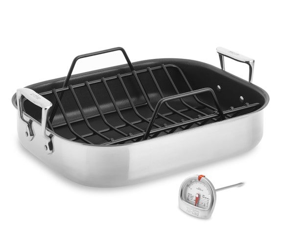 All-Clad Stainless-Steel Nonstick Large Roaster with Rack
