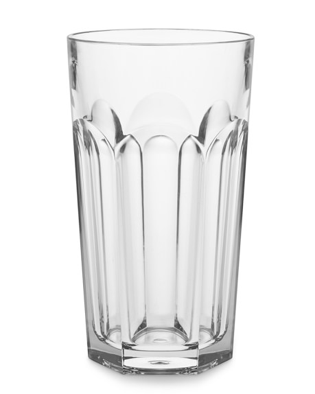 DuraClear® Faceted Glass Tumblers, 17 Oz., Set of 6, Clear