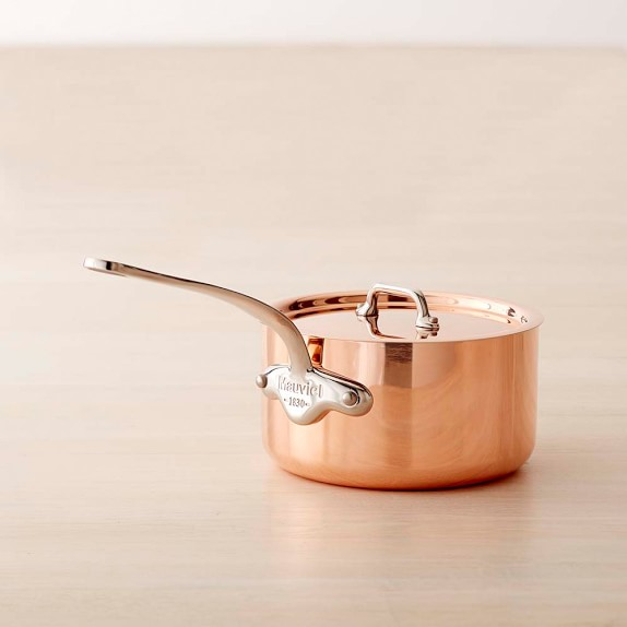 Mauviel Copper Triply Saucepan, 1 1/4-Qt.