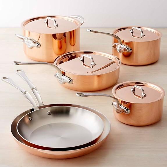 Mauviel Copper Triply 10 Piece Cookware Set Williams Sonoma