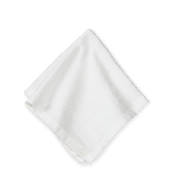 Washed Linen Cocktail Napkins, Set of 4, Cream