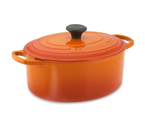 Le Creuset Signature Cast-Iron Oval Dutch Oven, 5-Qt., Flame