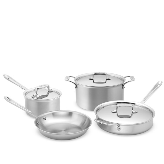 All-Clad d5 Brushed Stainless-Steel 7-Piece Cookware Set