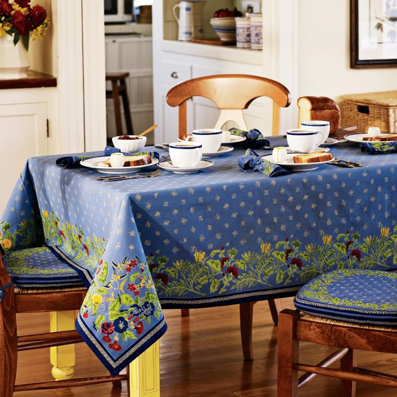 "Provence Tablecloth, Blue, 70"" x 90"""