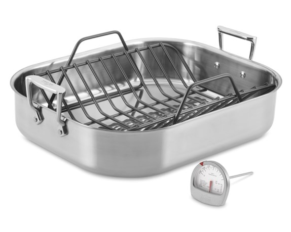 All-Clad Stainless-Steel Large Roaster with Rack