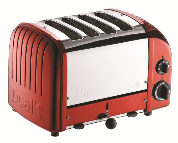 Dualit New Generation Classic 4-Slice Toaster, Apple Candy Red
