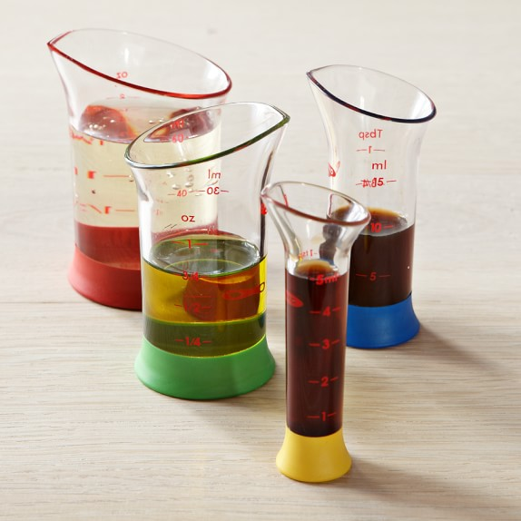 OXO Mini Wet Measuring Beakers, Set of 4