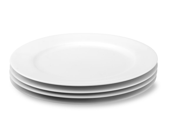 Apilco Tuileries Porcelain Dinner Plates, Set of 4