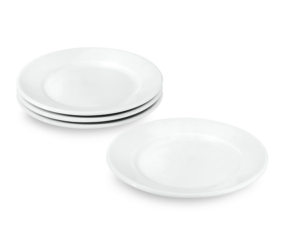 Apilco Tres Grande Porcelain Bread & Butter Plates, Set of 4
