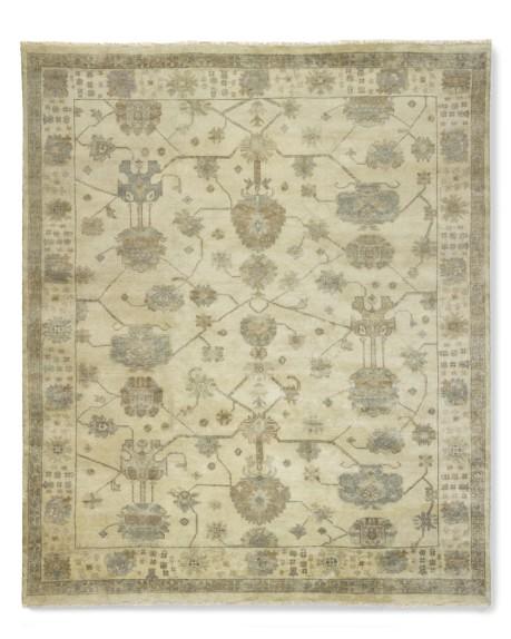 Spring Meadow Oushak, Ivory, 8' X 10'