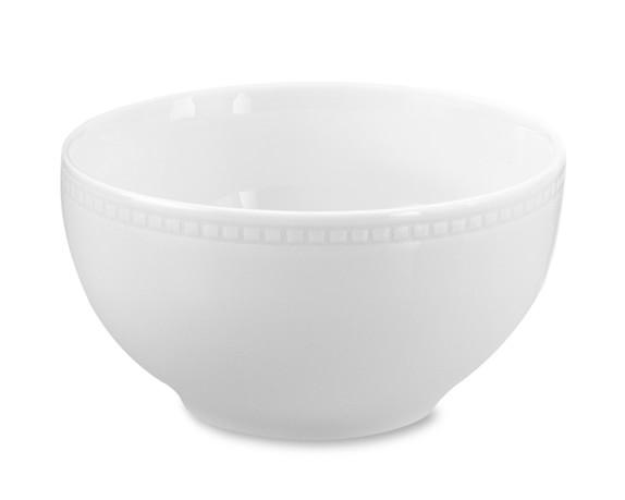 Apilco Beaded Hemstitch Porcelain Cereal Bowls, Set of 4