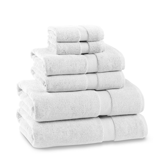 Chambers® Heritage Solid Towel Set, Set of 6, White