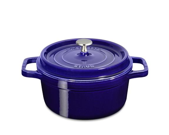 Staub Cast-Iron Round Cocotte, 2 3/4-Qt.., Sapphire Blue