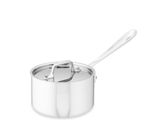All-Clad Tri-Ply Stainless-Steel Saucepan, 1 1/2-Qt.