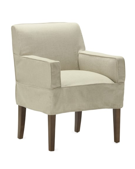 Fitzgerald Slipcovered Armchair, Linen