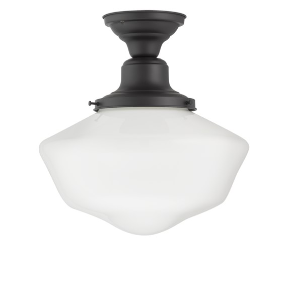 Rejuvenation Jefferson Overhead Schoolhouse Ceiling Light, Oil-Rubbed Bronze