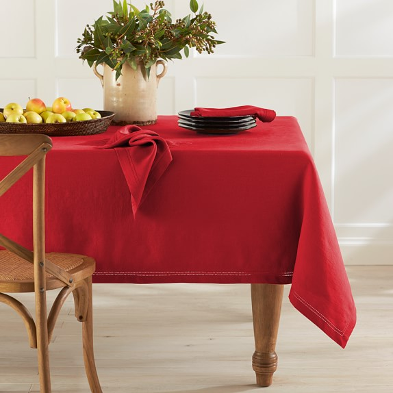 Linen Double Hemstitch Tablecloth, 70