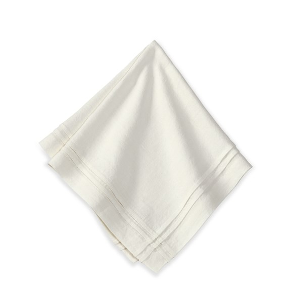 Pleated Edge Napkins, Set of 4, Cream