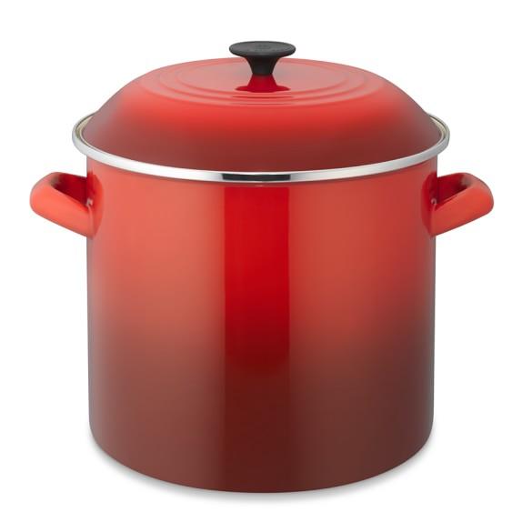 Le Creuset Enameled Steel Stock Pot, 16-Qt., Red