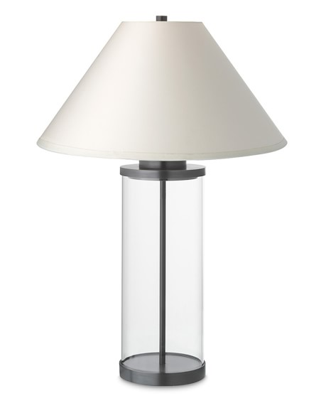 Desmond Glass Table Lamp, Oiled Bronze