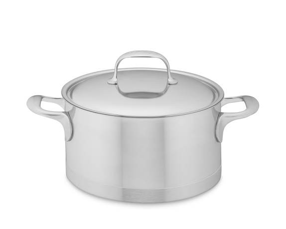Demeyere Atlantis Stainless-Steel Sauce Pot, 4-Qt.