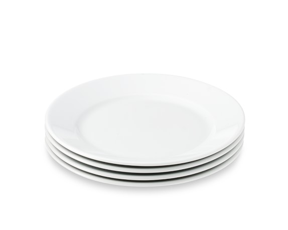 Apilco Très Grande Salad Plates, White, Set of 4