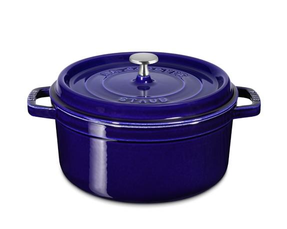 Staub Cast-Iron Round Cocotte, 4-Qt., Sapphire Blue