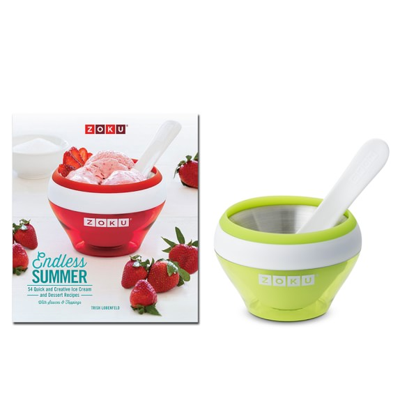Zoku Ice Cream Maker Gift Set, Green