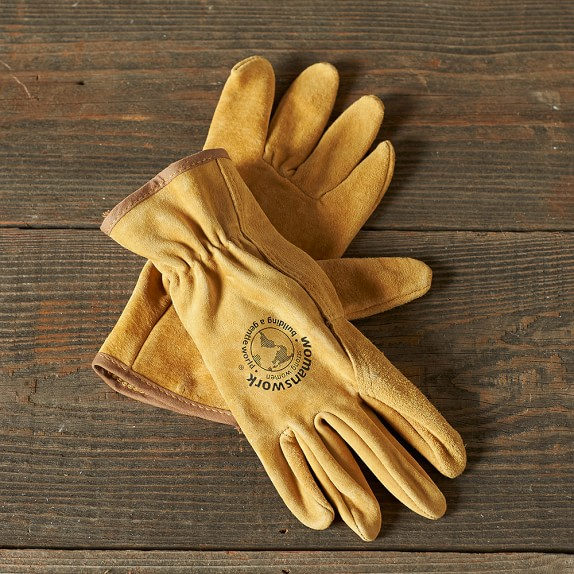 Leather Work Gloves, Small