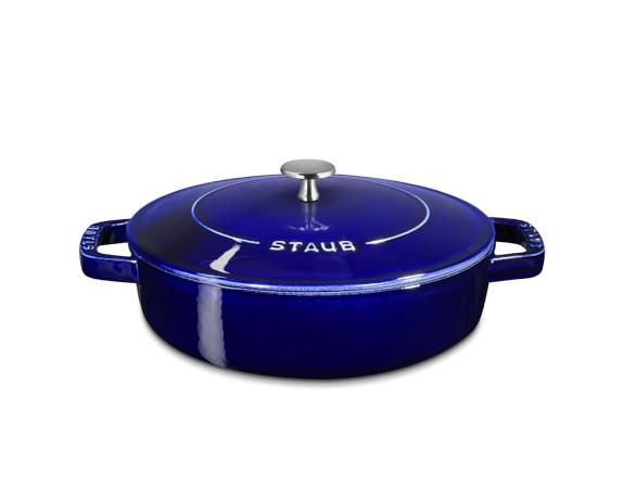 Staub Cast-Iron Braiser, 2 3/4-Qt., Sapphire Blue