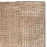 Hand Knotted Greek Key Rug Swatch, Mosaic Ivory/Gray