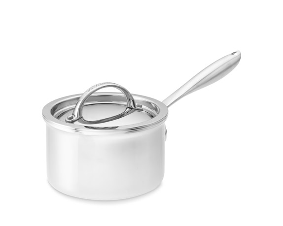 Williams-Sonoma Thermo-Clad Stainless Steel Sauce Pan with Lid, 1 1/2-Qt.