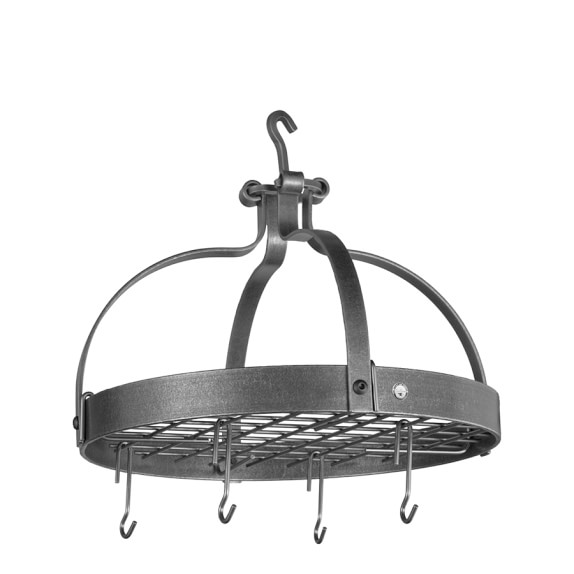 Enclume Dutch Crown Round Pot Rack, Hammered Steel