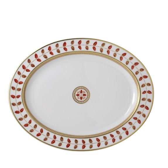 Bernardaud Constance Red Oval Platter