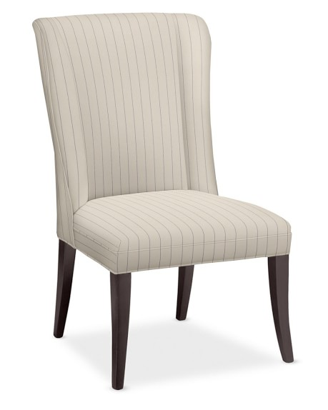 Sylvia Dining Side Chair, Honey, French Stripe, Admiral