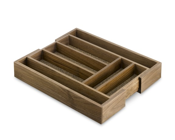 Walnut Expandable Flatware Tray