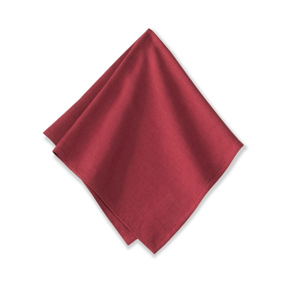 Washed Linen Napkins, Set of 4, Garnet