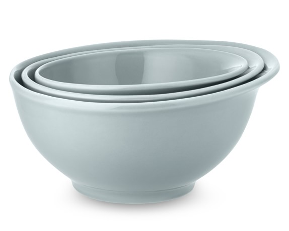 Bistro Mixing Bowls, Set of 3, Blue