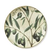 Wine Country Botanical Dinner Plates, Set of 2, Olive