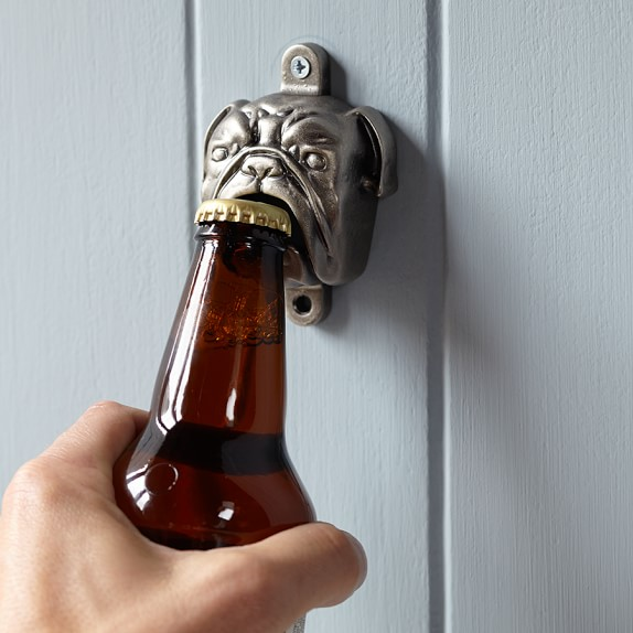 Novelty Wall-Mounted Bottle Opener, Bulldog