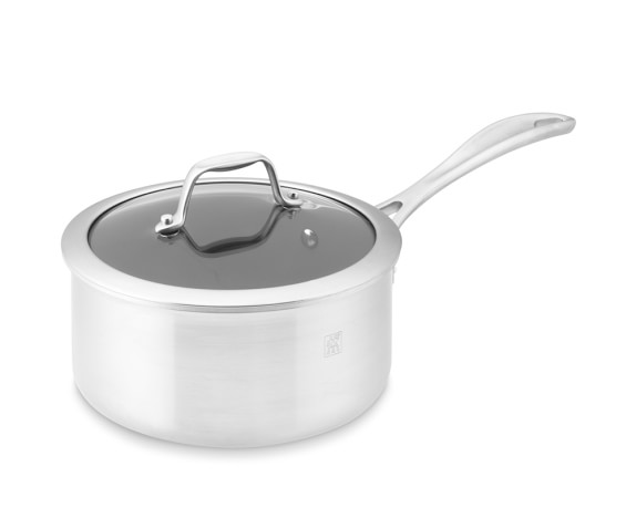 Zwilling Spirit Stainless-Steel Ceramic Nonstick Saucepan with Lid, 2-Qt.