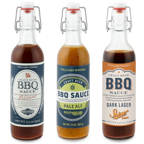 Williams-Sonoma Craft Beer Barbecue Sauce, Set of 3